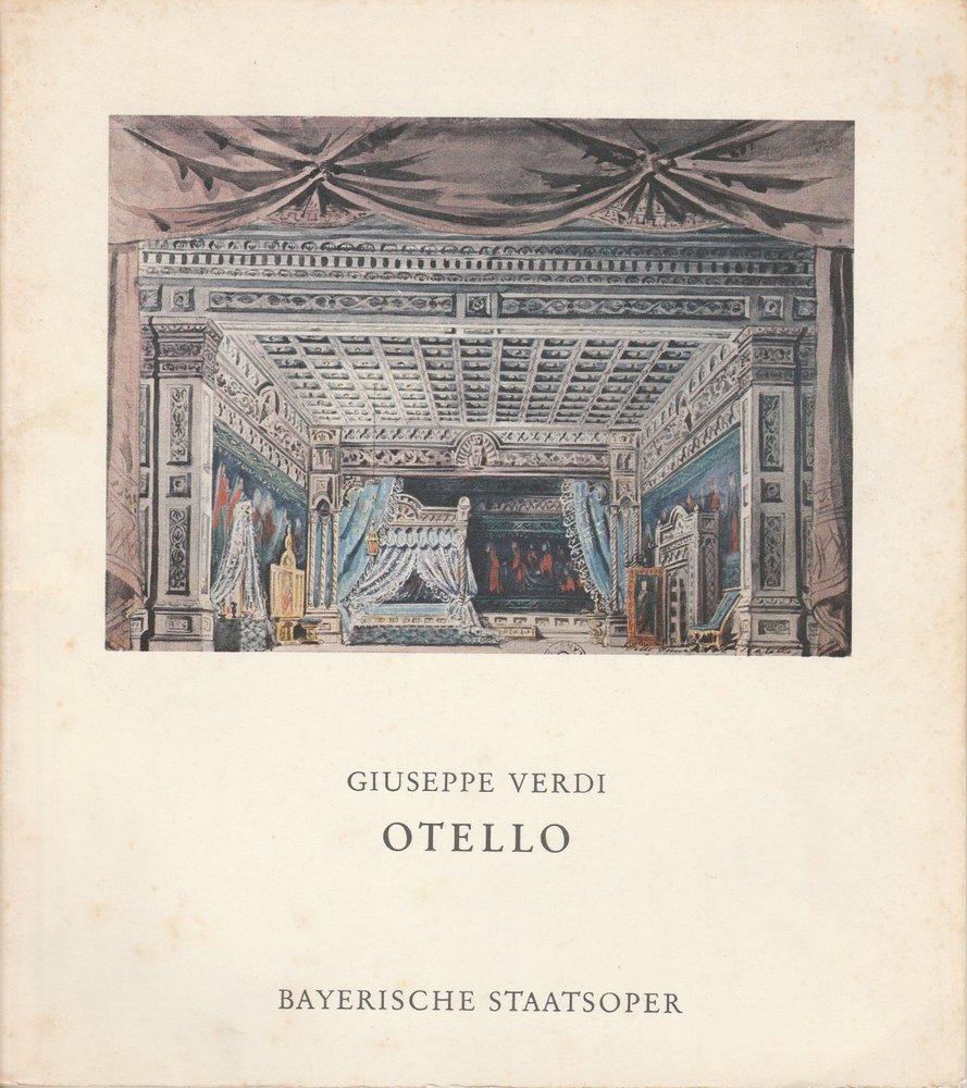 Programmheft OTELLO von Giuseppe Verdi Bayerische Staatsoper 1977