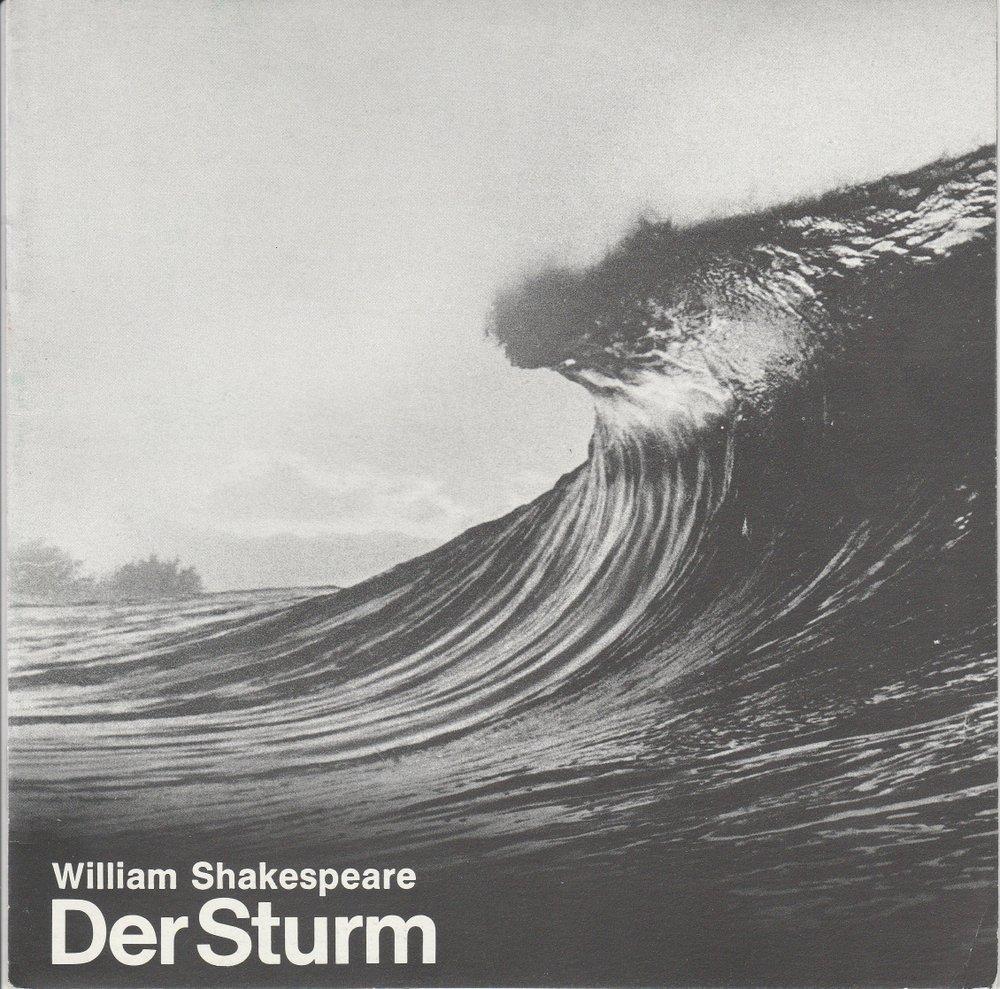 Programmheft William Shakespeare: DER STURM Bühnen Augsburg 1979