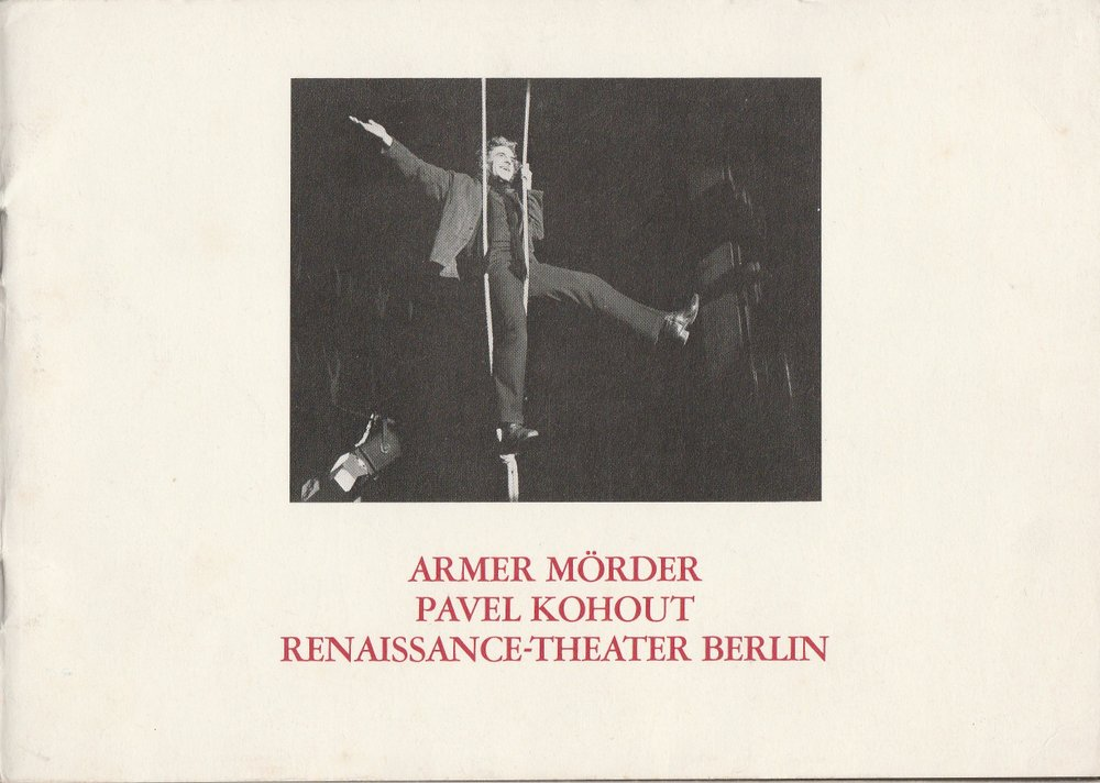 Programmheft ARMER MÖRDER von Pavel Kohout Renaissance-Theater 1982