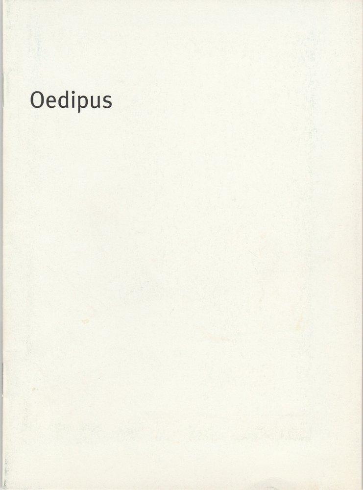 Programmheft Sophokles: OEDIPUS Bayerisches Staatsschauspiel 2003