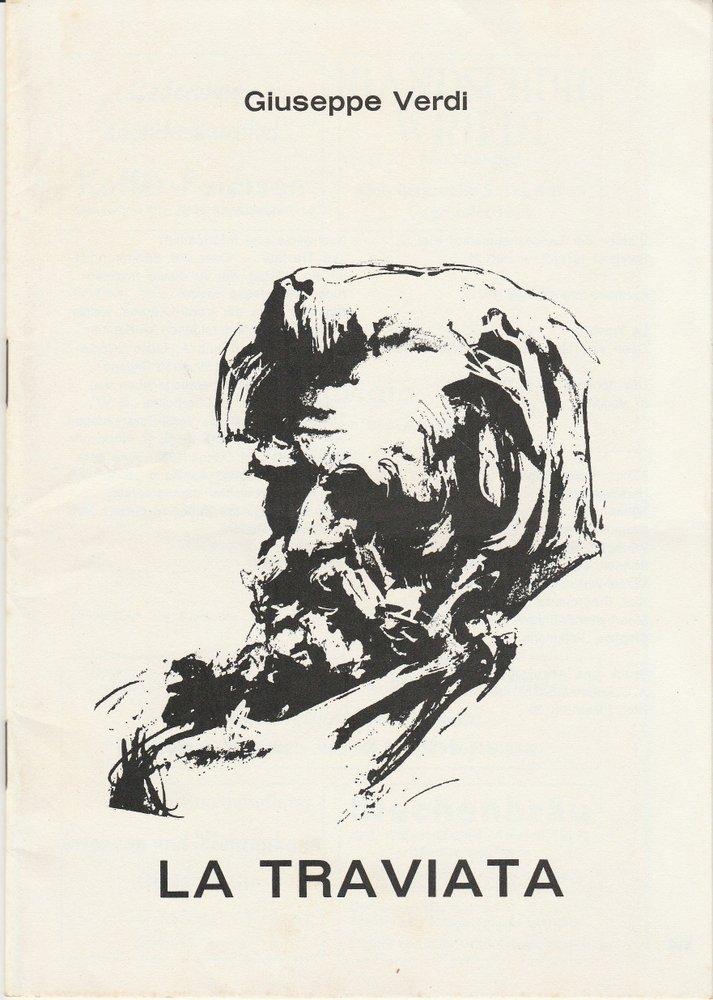 Programmheft Giuseppe Verdi: LA TRAVIATA Stadttheater Kiel 1971