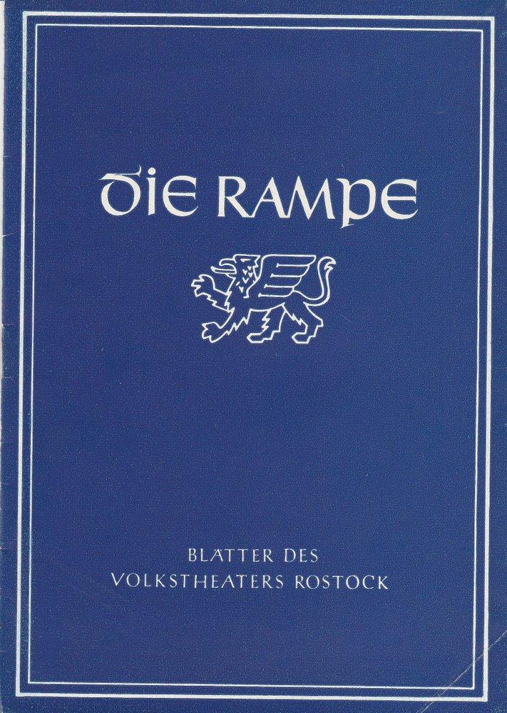 Programmheft Mozart: DIE HOCHZEIT DES FIGARO Volkstheater Rostock 1956