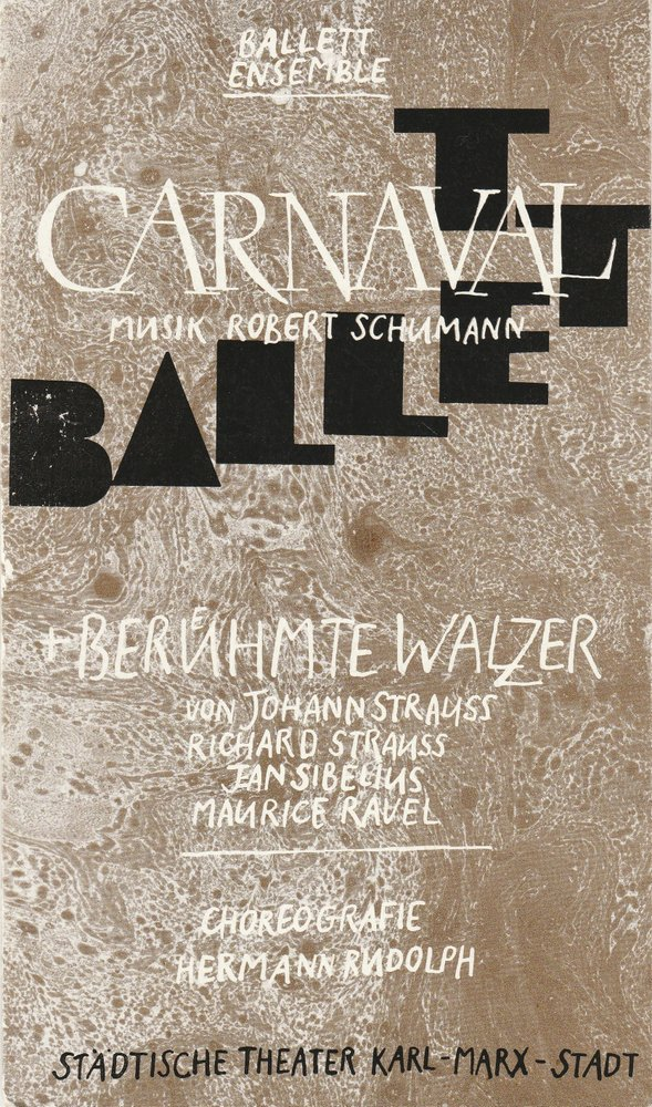 Programmheft Ballettabend CARNAVAL / BERÜHMTE WALZER Luxor-Palast 1988