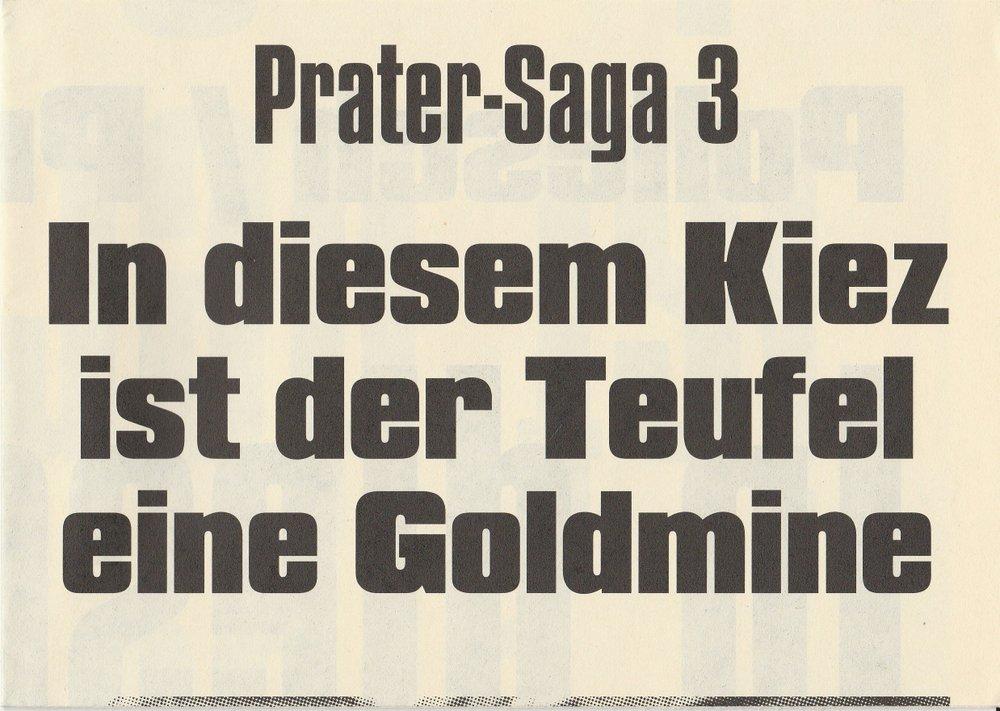 Programmheft Prater-Saga 3 IN DIESEM KIEZ IST DER TEUFEL EINE GOLDMINE 2004