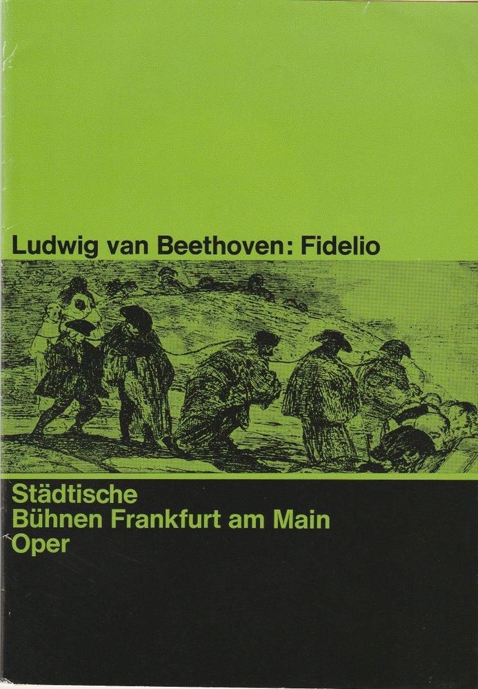 Programmheft Ludwig van Beethoven: FIDELIO Städtische Bühnen Frankfurt 1959