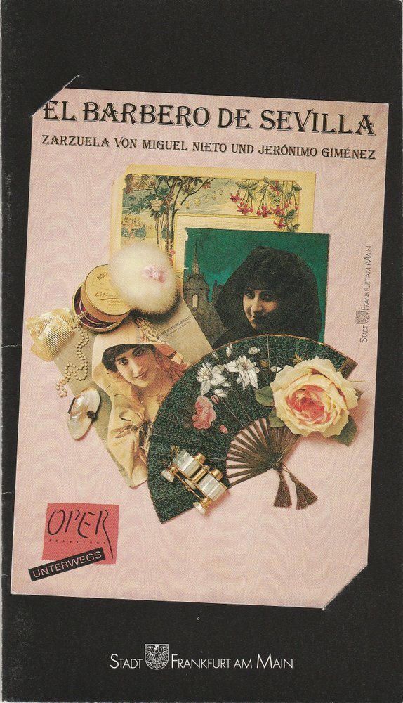 Programmheft Nieto / Gimenez: El Barbero de Sevilla Bikuz Höchst 1989