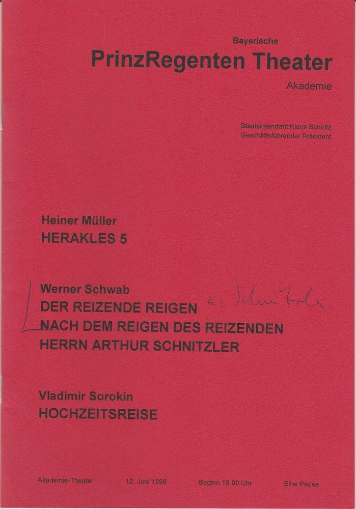 Programmheft Herakles 5 / Der reizende Reigen / Hochzeitsreise Theater Akademie