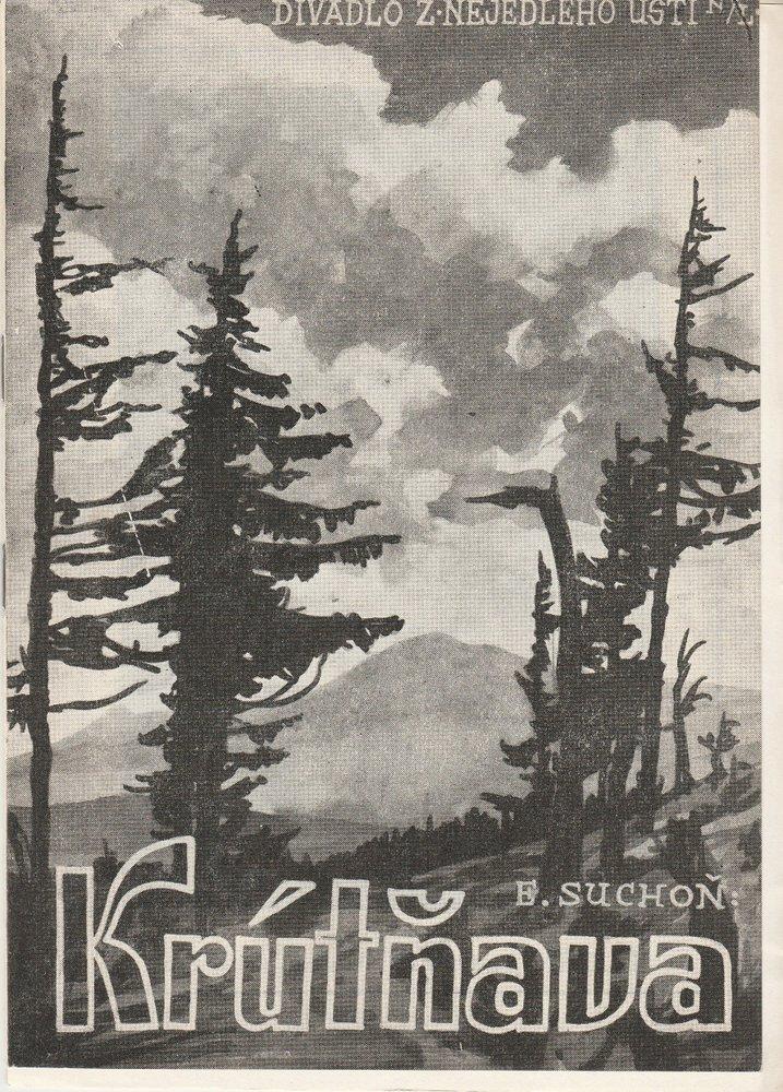 Programmheft Eugen Suchon: KRUTNAVA. Oper Usti nad Labem 1956