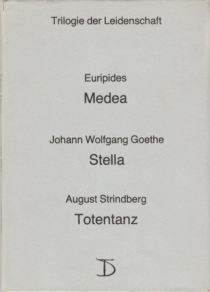 Programmheft TRILOGIE DER LEIDENSCHAFT Deutsches Theater Berlin DDR 1986