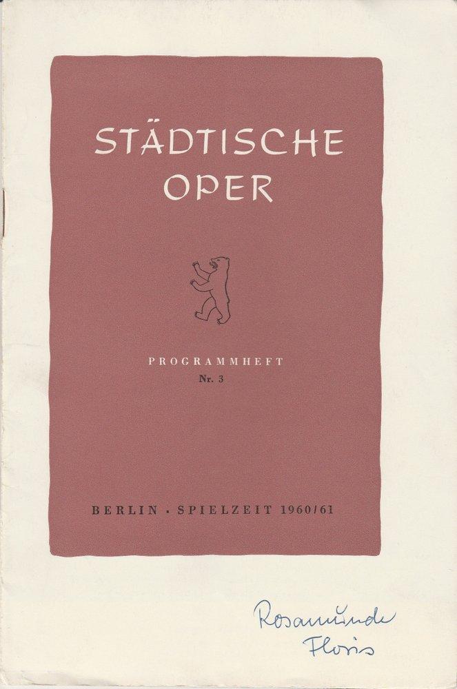 Programmheft Boris Blacher: ROSAMUNDE FLORIS Städtische Oper Berlin 1960