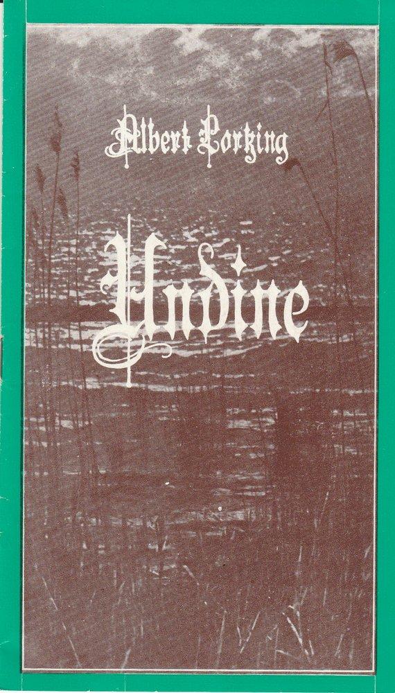 Programmheft Albert Lortzing: UNDINE Landesbühnen Sachsen 1977