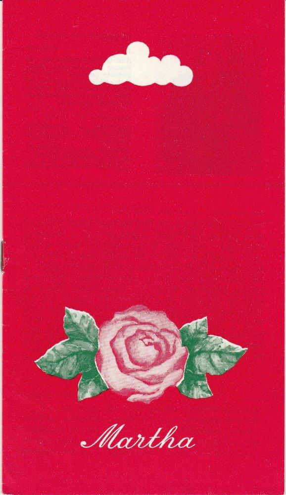 Programmheft Friedrich von Flotow: MARTHA Landesbühnen Sachsen