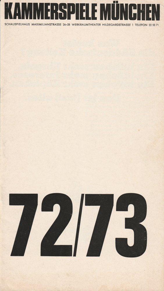 Programmheft Eugene Ionesco: MACBETT Kammerspiele München 1973