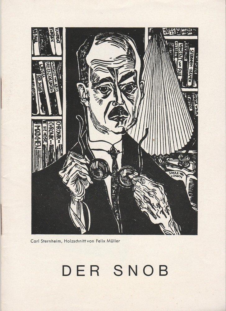 Programmheft Der Snob. Komödie von Carl Sternheim Renaissance-Theater 1964