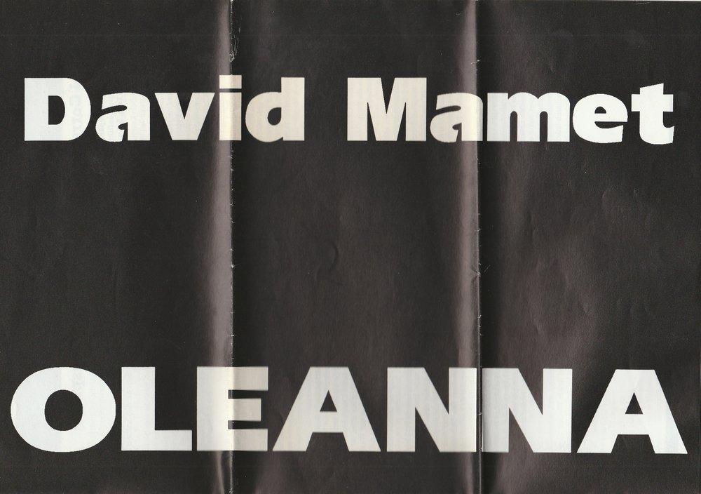 Programmheft David Mamet: OLEANNA Theater im Grabbe-Haus 1995