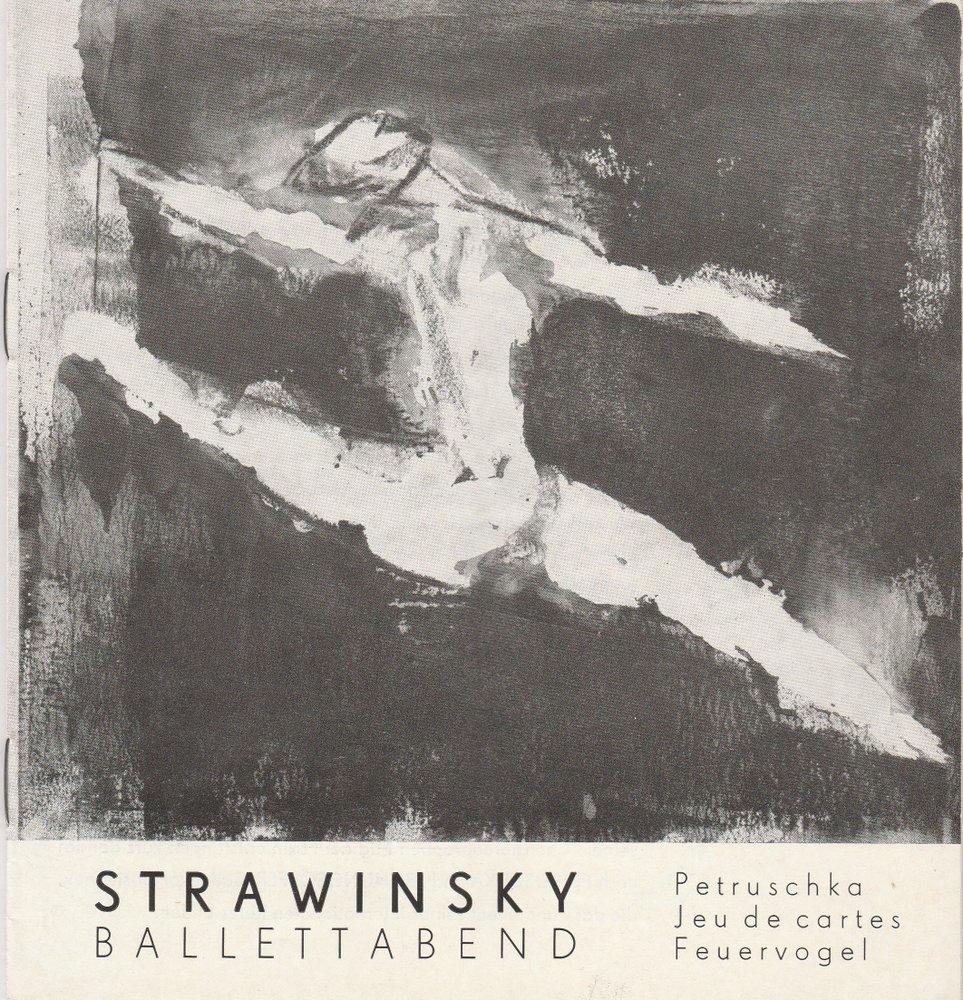 Programmheft Strawinsky Ballettabend Staatstheater Schwerin 1967
