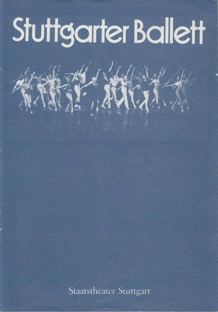 Programmheft BALLETTABEND Stuttgarter Ballett Gastspiel in Karl-Marx-Stadt 1986
