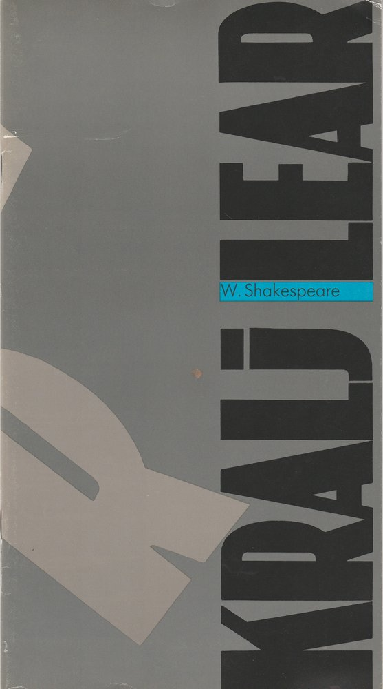 Programmheft William Shakespeare KRALJ LEAR Ljubljana 1992