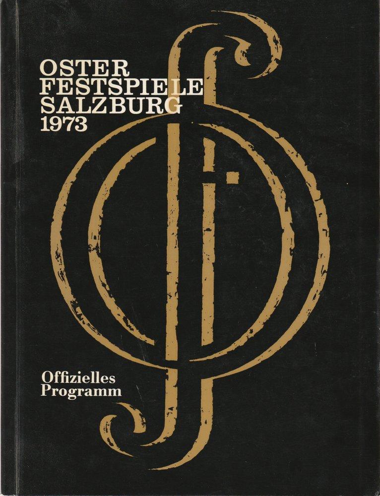 Programmheft Offizielles Programm der Osterfestspiele Salzburg 1973