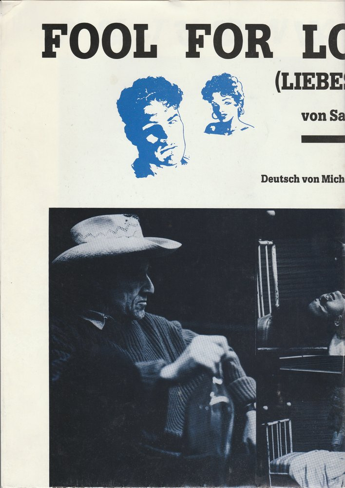 Programmheft Sam Shepard FOUL FOR LOVE Nationaltheater Mannheim 1987 PLAKAT