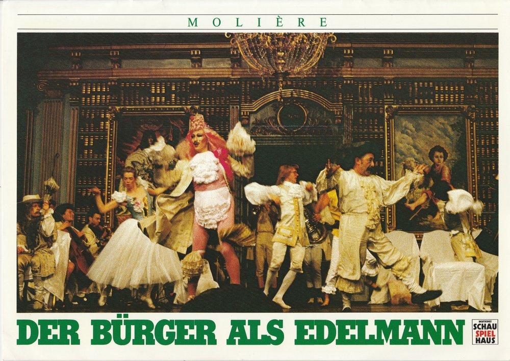 Programmheft Moliere DER BÜRGER ALS EDELMANN Deutsches Schauspielhaus 1986