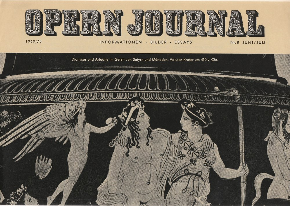 OPERN JOURNAL 1969 / 70 Nr. 8 Juni / Juli Deutsche Oper Berlin