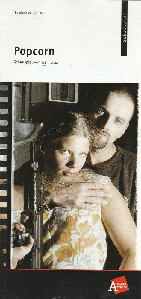 Programmheft Ben Elton POPCORN Theater Augsburg 2002