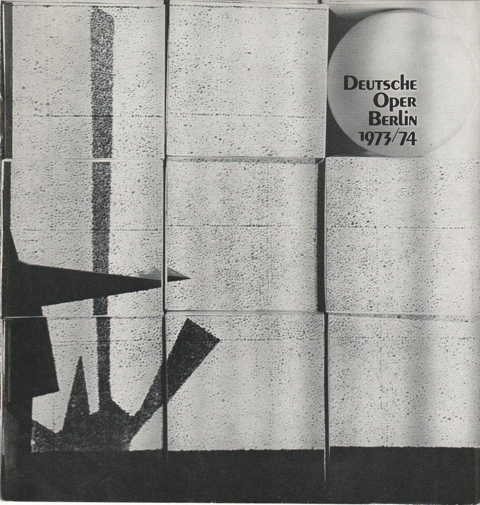 Programmheft Cramer / Bacher PREUSSISCHES MÄRCHEN Deutsche Oper Berlin 1974
