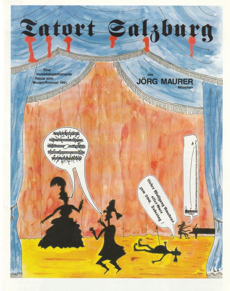 Programmheft TATORT SALZBURG Eine musikkabarettistische Revue 1991