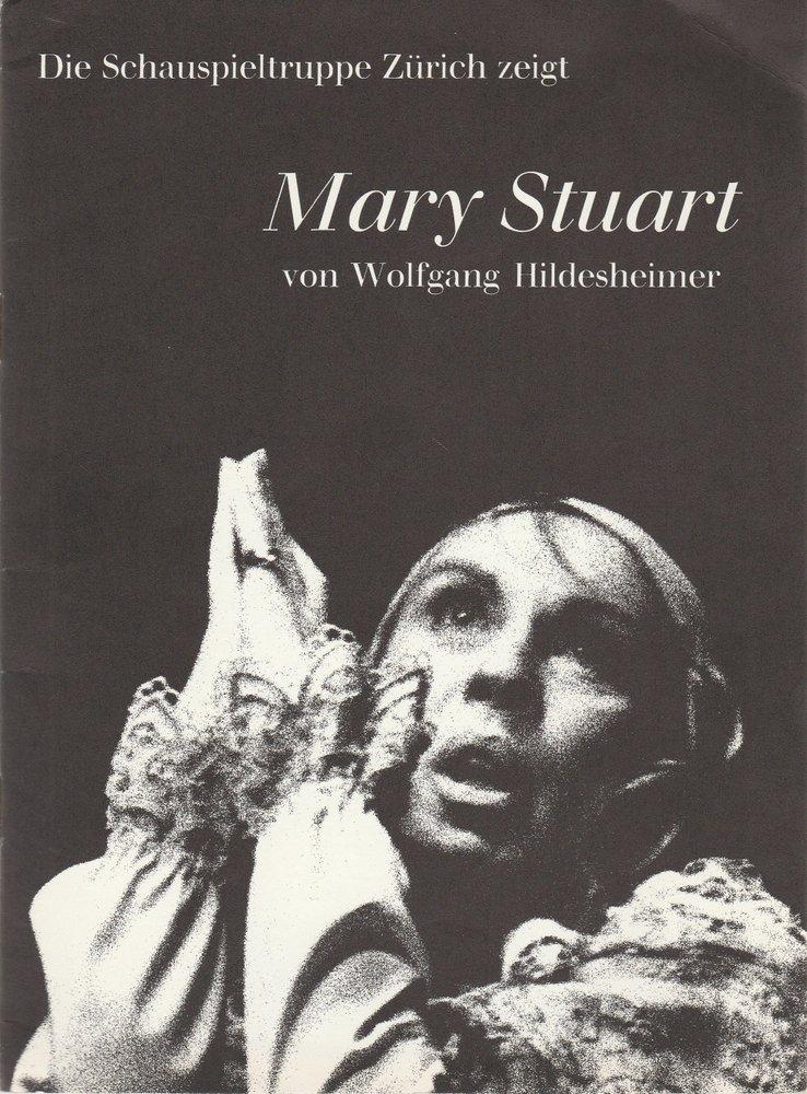 Programmheft MARY STUART von Wolfgang Hildesheimer Schauspieltruppe Zürich 1974