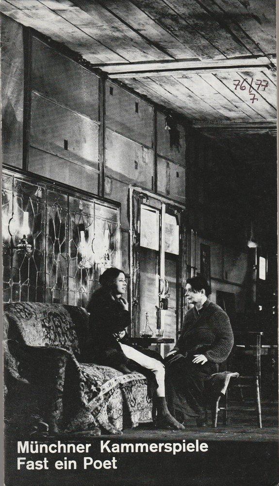 Programmheft Fast ein Poet von Eugene O 'Neill Münchner Kammerspiele 1977