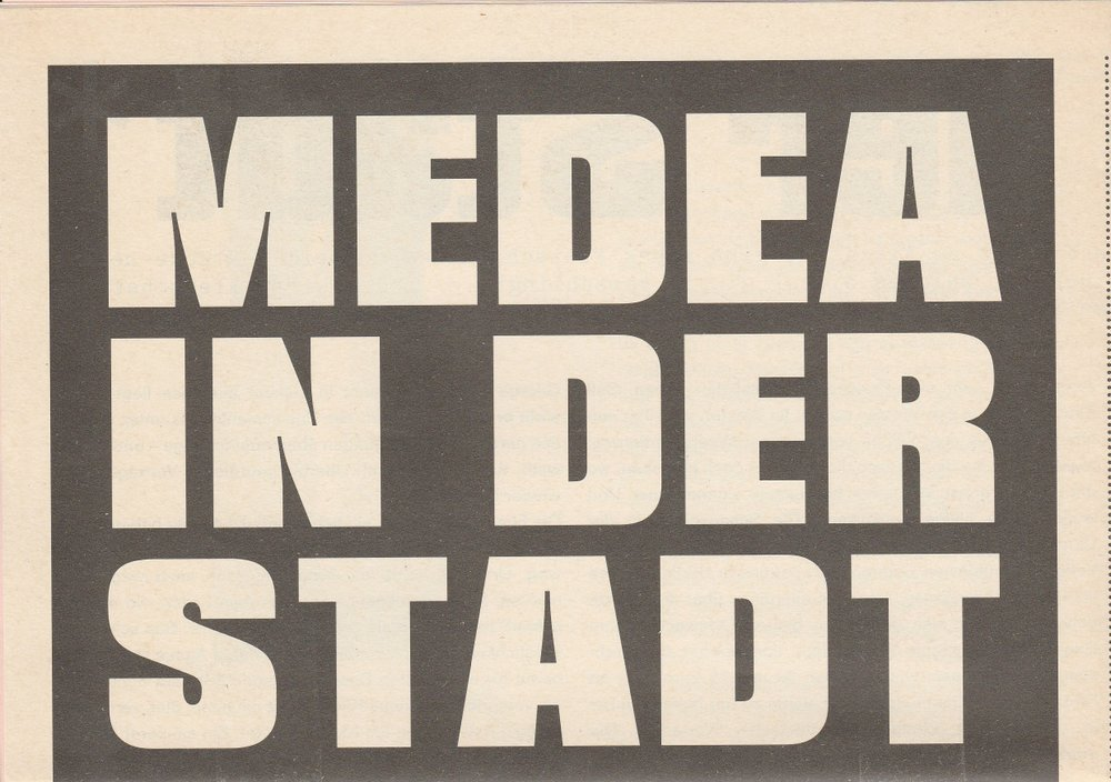 Programmheft Andrij Zholdak MEDEA IN DER STADT Volksbühne Berlin 2005
