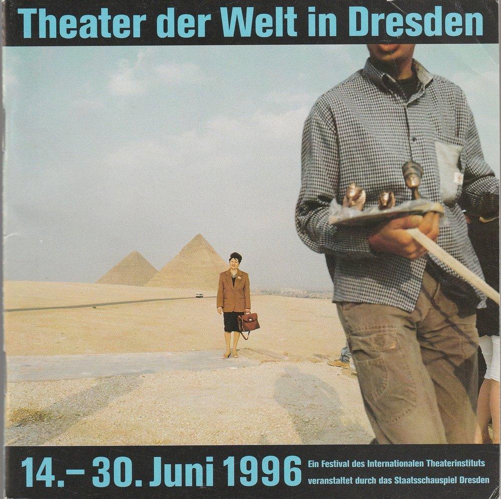 Programmheft Theater der Welt in Dresden 14.-30. Juni 1996
