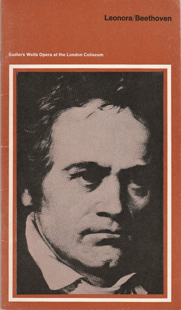 Programmheft LEONORA Ludwig van Beethoven Sadler´s Wells Opera 1970
