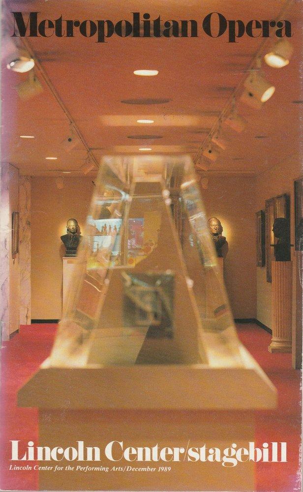 Programmheft Richard Wagner DER FLIEGENDE HOLLÄNDER Metropolitan Opera 1989