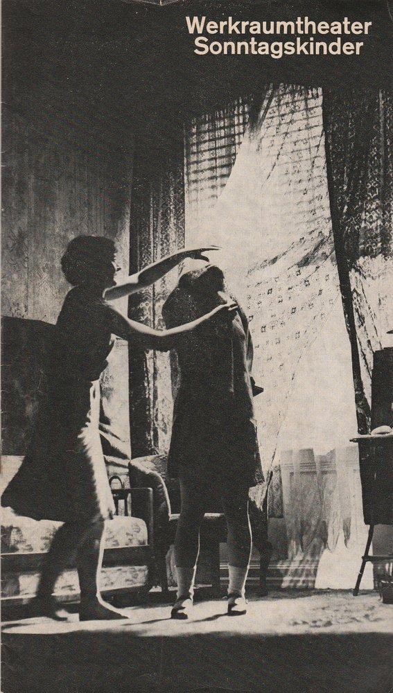 Programmheft Gerlind Reinshagen SONNTAGSKINDER Münchner Kammerspiele 1976