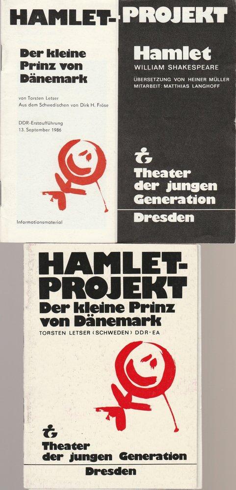 Programmheft Hamlet Projekt. Spielzeit 1986 / 87 Heft Nr. 1 und 2