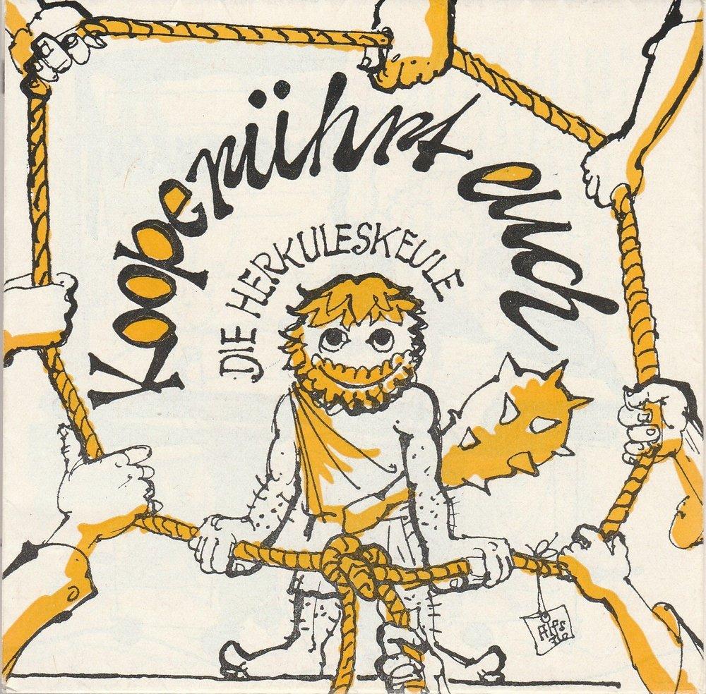 Programmheft Die Herkuleskeule Dresden DDR KOOPERÜHRT EUCH 6-fach signiert 1971