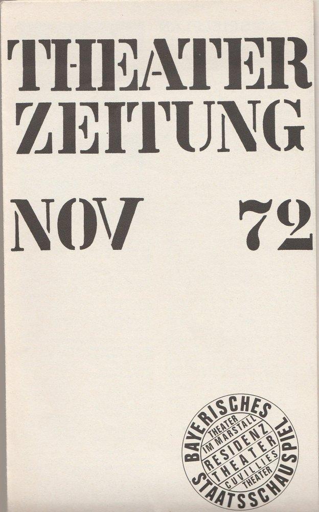 THEATERZEITUNG I 2 November 1972 Bayerisches Staatsschauspiel
