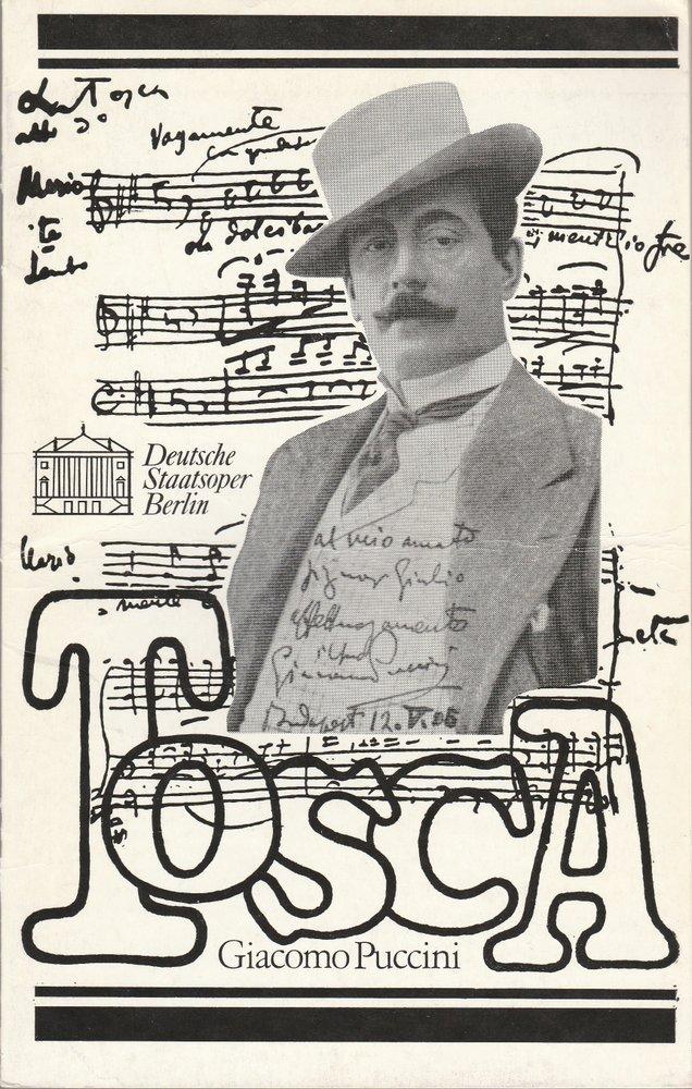 Programmheft Giacomo Puccini TOSCA Deutsche Staatsoper Berlin 1980