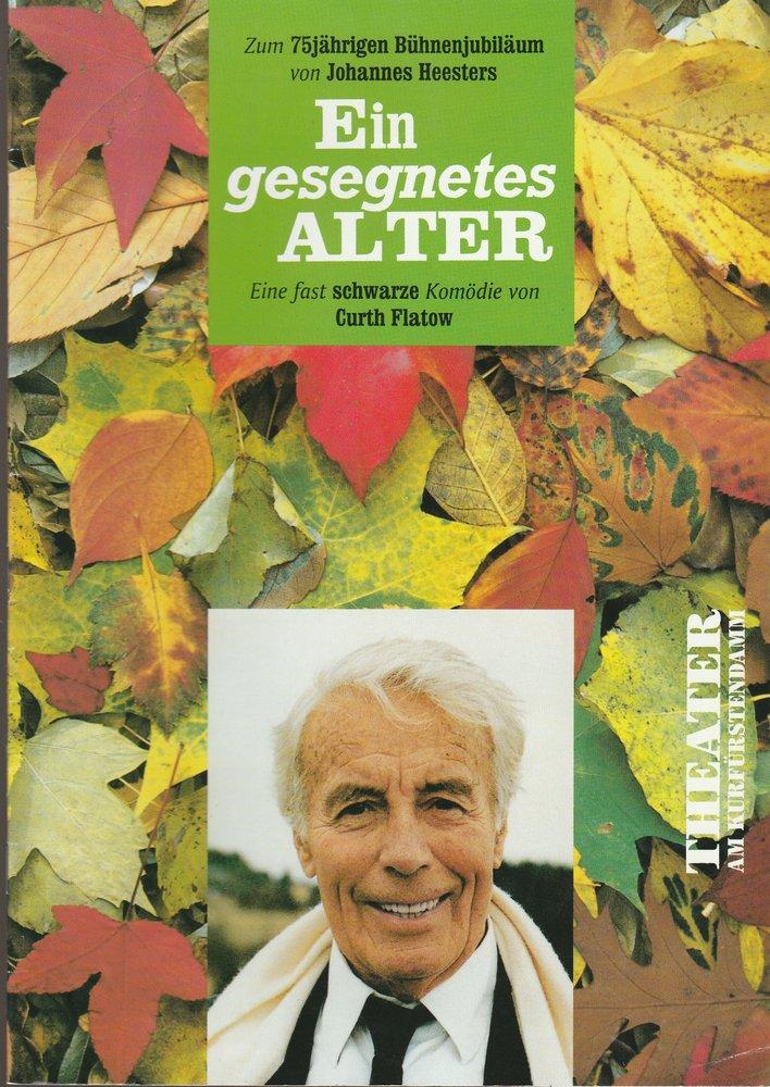 Programmheft Uraufführung EIN GESEGNETES ALTER 75jähriges Bühnenjubil. Heesters