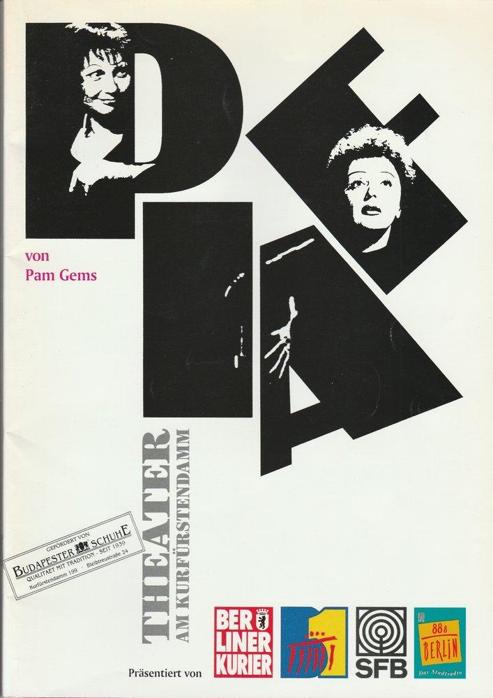 Programmheft PIAF von Pam Gems Theater am Kurfürstendamm 1995