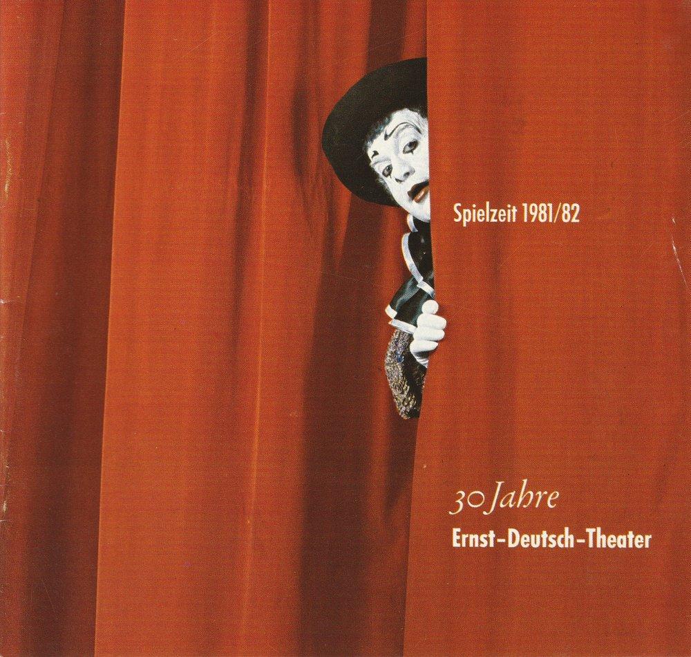 Programmheft 30 Jahre Ernst-Deutsch-Theater Spielzeit 1981 / 82 Spielzeitheft