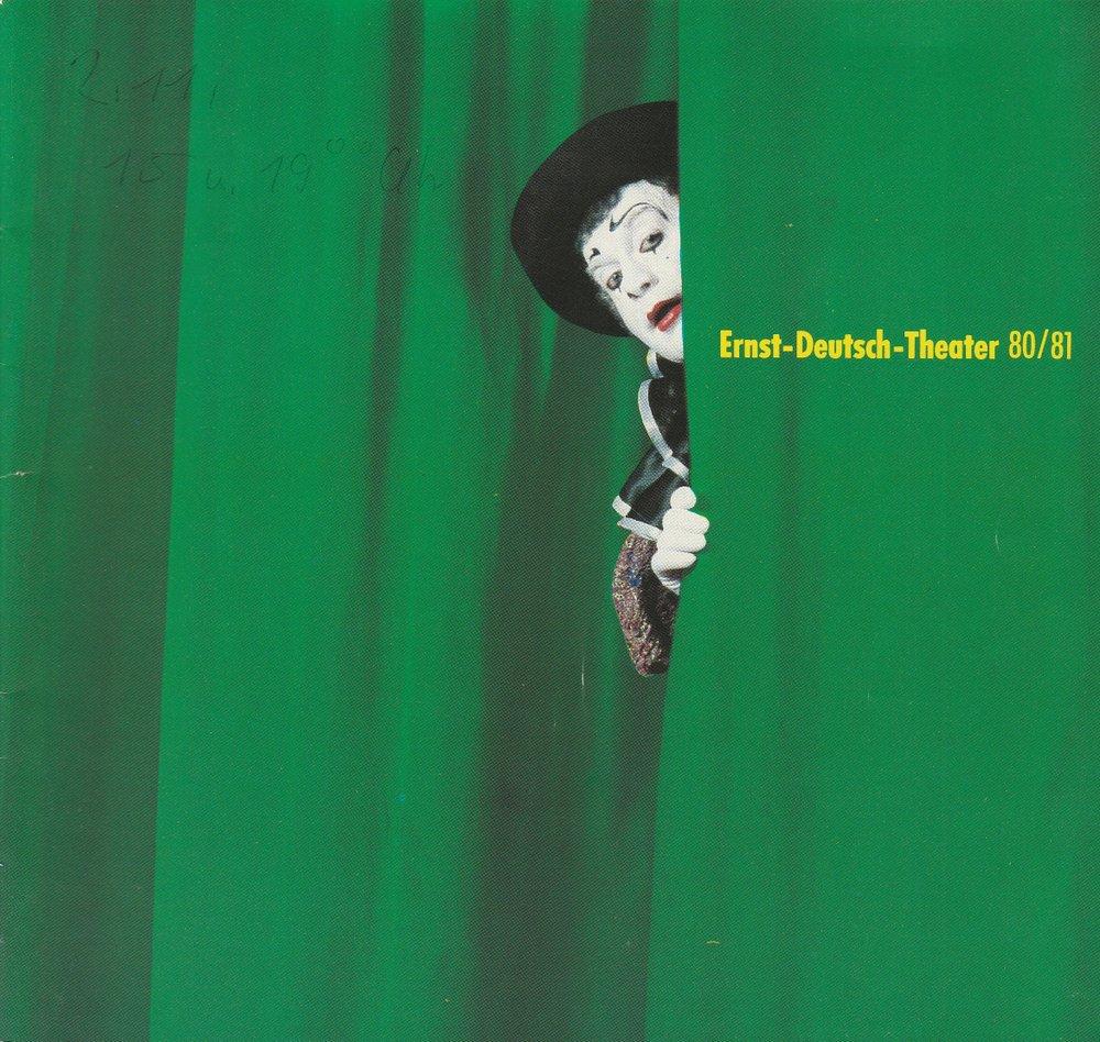 Programmheft Ernst-Deutsch-Theater 80 / 81 Spielzeit 1980 / 81 Spielzeitheft