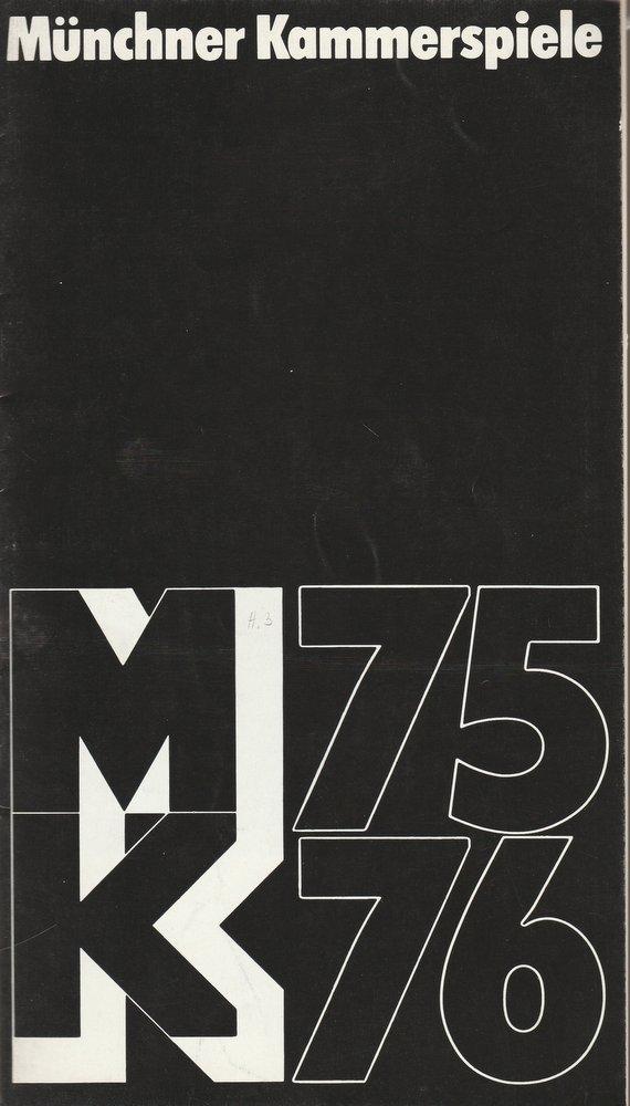 Programmheft Shaw: Der Arzt am Scheideweg Münchner Kammerspiele 1975
