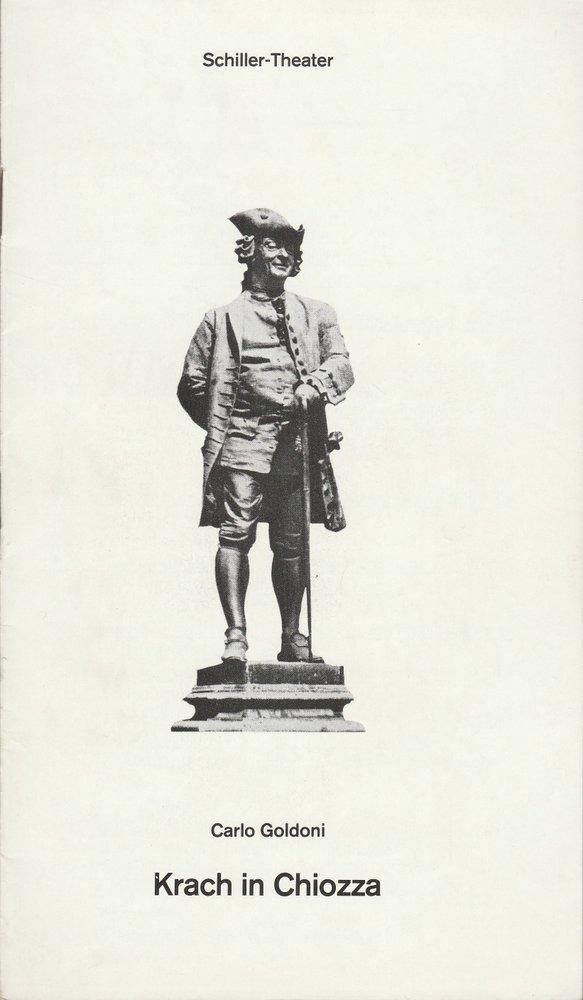 Programmheft Carlo Goldoni KRACH IN CHIOZZA Schiller-Theater 1979