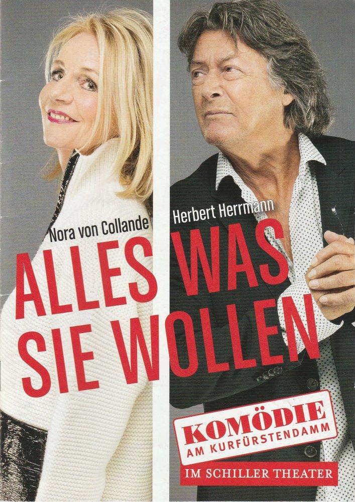 Programmheft ALLES WAS SIE WOLLEN Komödie am Kurfürstendamm 2019