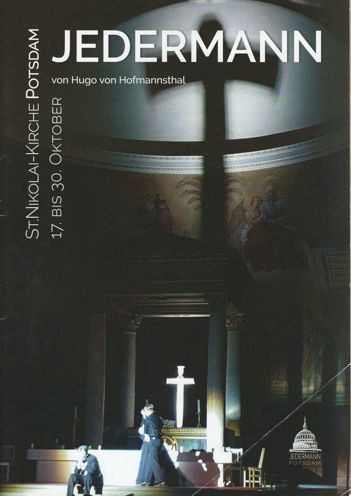 Programmheft JEDERMANN von Hugo von Hofmannstha St. Nikolai-Kirche Potsdam 2019