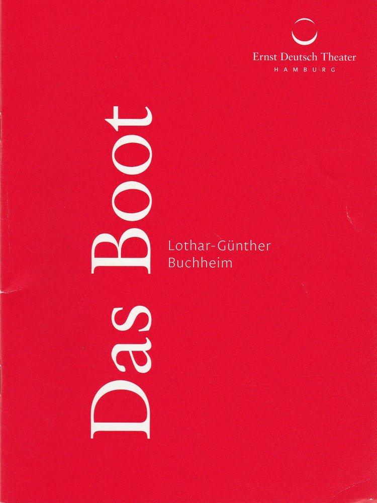 Programmheft Lothar-Günther Buchheim DAS BOOT Ernst Deutsch Theater 2015