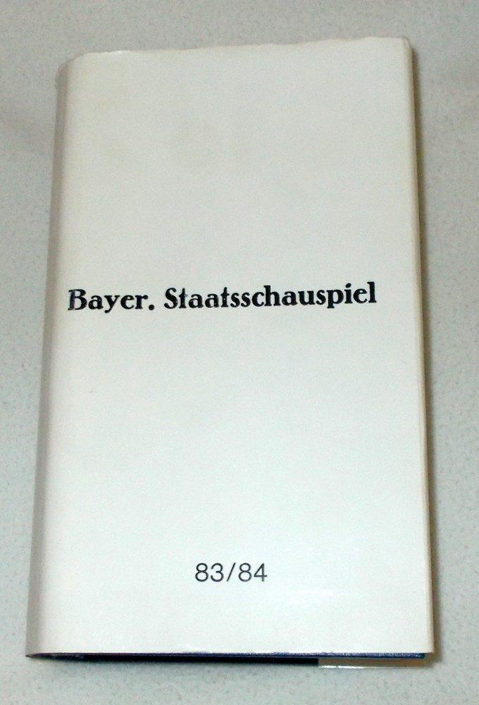 Programmhefte Bayerisches Staatsschauspiel 83 / 84 Papiertheater Brandner Kaspar